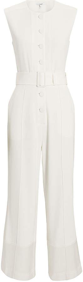 Derek Lam 10 Crosby White Crepe Jumpsuit