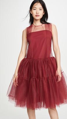 No.21 Sleeveless Tulle Mini Dress