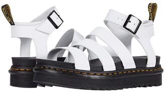 Dr. Martens Blaire (Black Patent Lamper) Women's Sandals