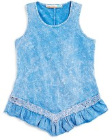Vintage Havana Girls' Open Back Ruffle Tank - Sizes S-XL
