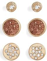 Treasure & Bond Set of 3 Stud Earrings