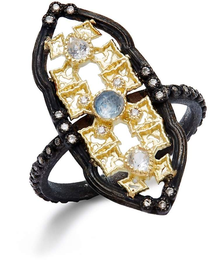 Armenta Women's Diamond & Gemstone Quartz Doublet Cutout Ring