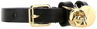 Alexander McQueen Skull Charm Buckle Bracelet
