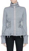 Alexander McQueen Lace-up chunky wool knit cardigan