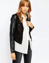 Vila Premium Real Leather and Suede Biker Jacket