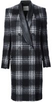 Ungaro double-breasted checked coat