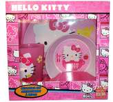 Zak Designs Zak! Hello Kitty 3 Piece Mealtime Set