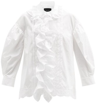 Simone Rocha Ruffled Cotton-poplin Blouse - White
