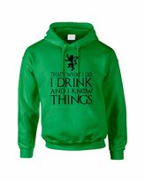 Allntrends Adult Hoodie That's What I Do I Drink And I Know Things (L, )