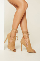 Forever 21 FOREVER 21+ Lace-Up Stiletto Sandals