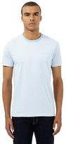 Ben Sherman Big And Tall Light Blue Striped Print T-shirt