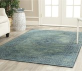 Safavieh VTG112-2220-9 Vintage Collection Turquoise and Multi Area Rug, 8-Feet 10-Inch by 12-Feet 2-Inch