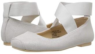 Janie and Jack Metallic Ballet Flat (Toddler/Little Kid/Big Kid) (Silver) Girls Shoes