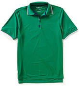 Bobby Jones Golf XH20 Solid Pique Quarter-Zip Short-Sleeve Polo Shirt