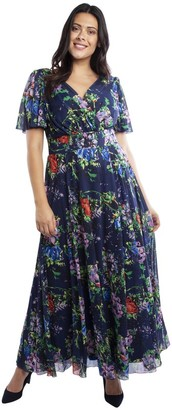 M&Co Scarlett and Jo floral float sleeve maxi dress