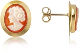 Del Gatto Woman Cornelian Cameo 18K Gold Earrings