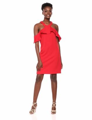 Trina Turk Trina Women's Jurnee Ruffle Cold Shoulder Dress
