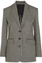 Helmut Lang Checked Wool Blazer - Black