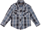 Roper Dark Navy Plaid Pocket Button-Up - Boys