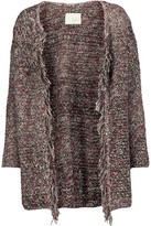 Joie Nenet Fringed Knitted Cardigan