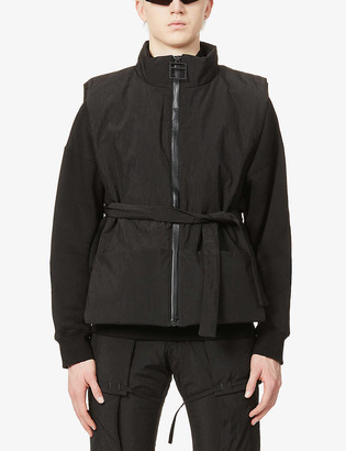 Pieces Uniques Bushi padded funnel-neck shell gilet