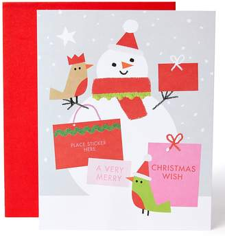 Marks and Spencer Personalisable Christmas Charity Card with Female Caption Stickers