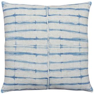 TheWatsonShop Batik Stripes Linen Throw Pillow