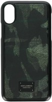 Dolce & Gabbana camouflage print iPhone X case