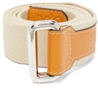 eye/LOEWE/nature Logo-debossed Leather And Canvas Belt - Mens - White