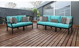 Kathy Ireland Homes & Gardens By Tk Classics Madison Ave. 5 Piece Sectional Seating Group with Cushions Homes & Gardens by TK Classics Cushion Color: Aqua