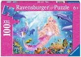 Ravensburger Mermaid and Dolphins Puzzle - 100 Pieces