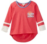 Ten Sixty Sherman Good Vibes 3/4 Ringer Raglan Tee (Big Girls)