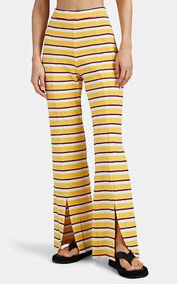 Solid & Striped Women's Striped Reverse French Terry Flared Pants
