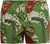 Gucci Tiger-print nylon swim shorts
