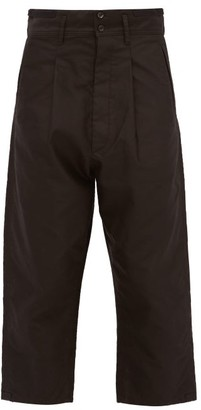 Chimala Pleated Cropped-cuff Cotton-twill Trousers - Black