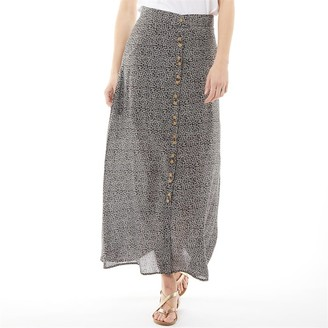 Onfire Womens Viscose Printed Skirt Polka Dot
