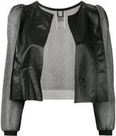 Aviu sheer sleeve cropped jacket