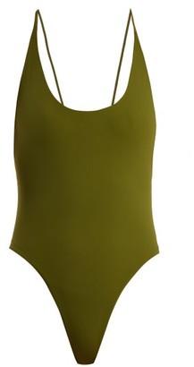 Dos Gardenias - Vicious Scoop-neck Swimsuit - Khaki