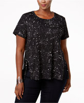 Style&Co. Style & Co. Plus Size Printed Swing Top, Only at Macy's