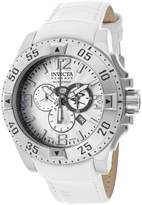 Invicta Women's 10526 Excursion Reserve Chronograph Textured Dial White Leather Watch