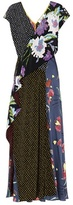 Diane von Furstenberg Printed floor-length silk dress