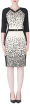 Joseph Ribkoff Leopard Accent Dress