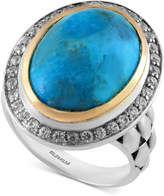 Effy Turquesa by Manufactured Turquoise (8-1/2 ct. t.w.) and White Sapphire (1/2 ct. t.w.) in Sterling Silver and 18k Gold