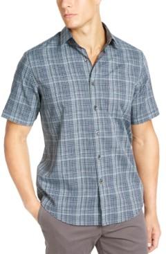 Tasso Elba Men's Stretch Dobby Short Sleeve-Woven Shirt, Created for Macy's