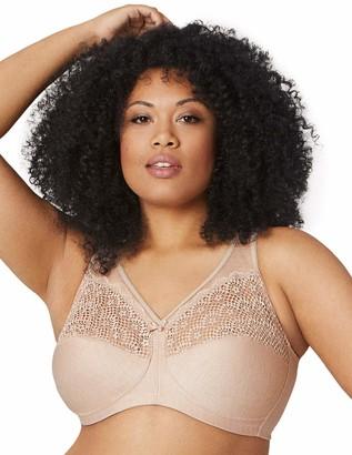 Glamorise Womens Full Figure Plus Size MagicLift Moisture Control Wirefree Bra #1064