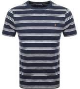 Farah Vintage Regis Stripe T Shirt Navy