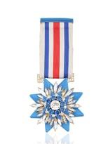Shourouk Blue Medal Pin
