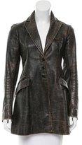 Ralph Lauren Distressed Leather Blazer