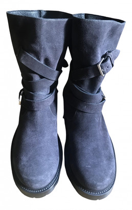 Christian Dior Anthracite Leather Boots