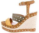Lanvin Stud-Embellished Espadrille Wedges